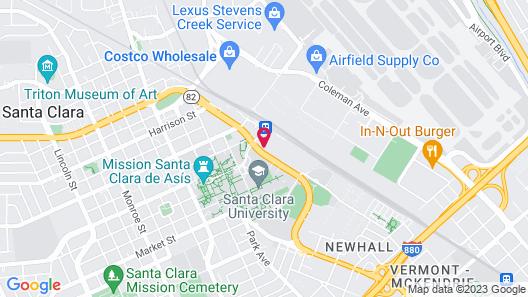Sonesta Simply Suites Silicon Valley Map