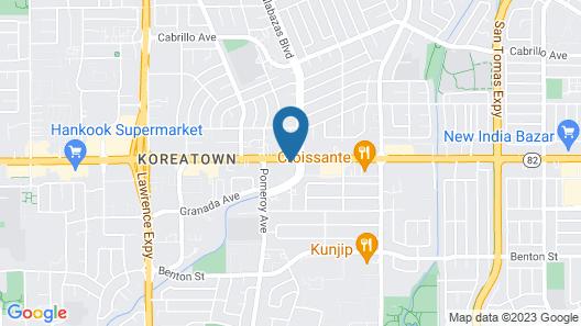 Motel 6 Santa Clara, CA Map