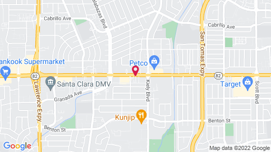 Quality Inn & Suites Silicon Valley Map