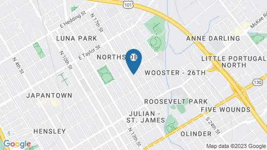 @ Marbella Lane Triplex San Jose Map