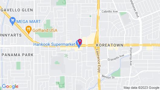 Best Western Inn Santa Clara Map