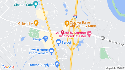 Suburban Extended Stay Hotel Chester I-95 Map