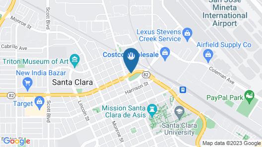 SureStay Plus by Best Western Santa Clara Silicon Valley Map