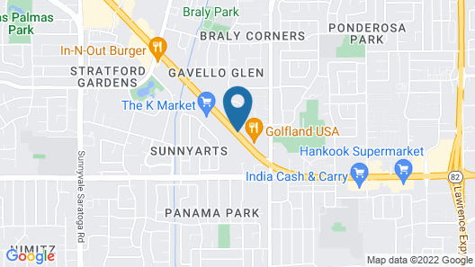 Corporate Inn Sunnyvale - All-Suite Hotel Map