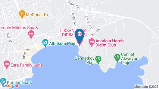 Tuntas Beach Hotel Altinkum Map