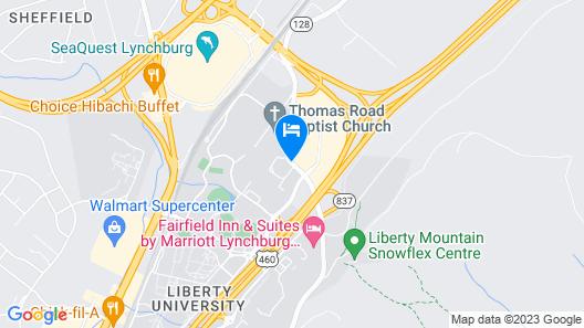 Super 8 by Wyndham Lynchburg VA Map