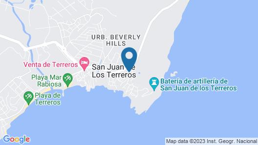 Hotel Playa Terreros Map