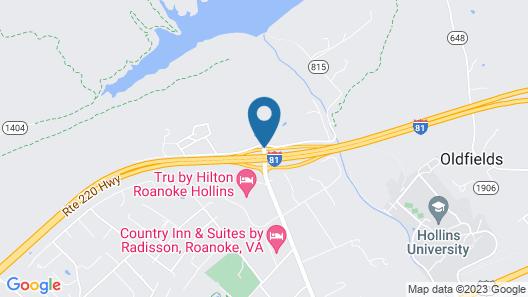Days Inn by Wyndham Roanoke Near I-81 Map