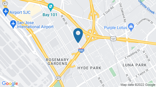 Country Inn & Suites by Radisson, San Jose International Airport, CA Map