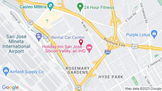 Comfort Suites San Jose Airport Map