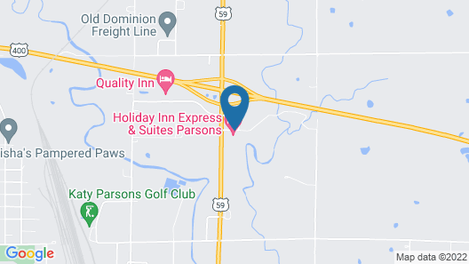 Holiday Inn Express & Suites Parsons, an IHG Hotel Map