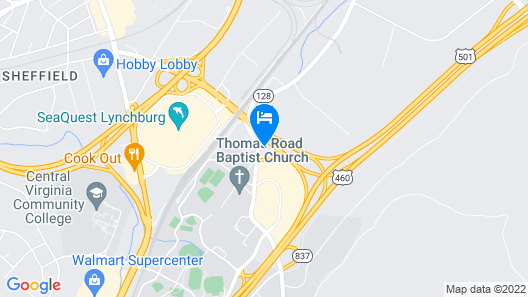 Sleep Inn Lynchburg - University Area & Hwy 460 Map