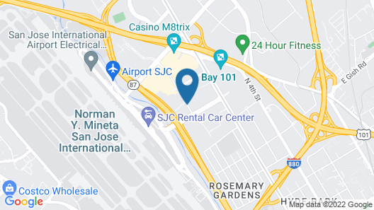 Courtyard by Marriott San Jose Airport Map