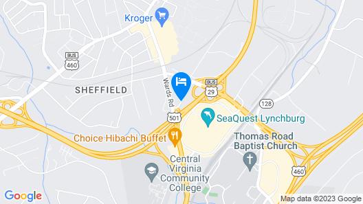 Microtel Inn & Suites By Wyndham Lynchburg Map