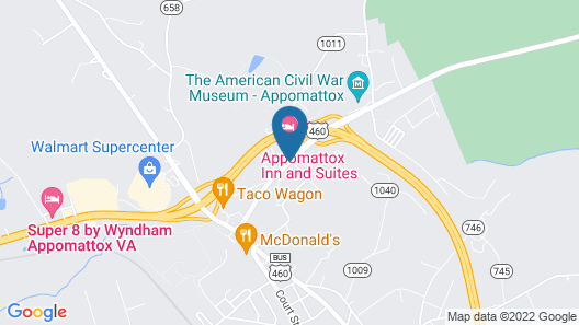 Appomattox Inn and Suites Map