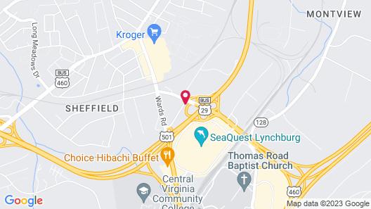 Holiday Inn Express Lynchburg, an IHG Hotel Map