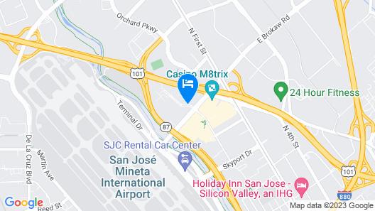 DoubleTree by Hilton San Jose Map