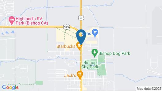Vagabond Inn Bishop Map
