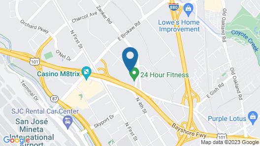 Sonesta ES Suites San Jose - Airport Map