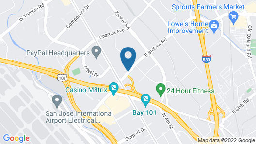 Extended Stay America San Jose - Airport Map