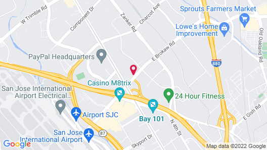 Extended Stay America Premier Suites San Jose Airport Map