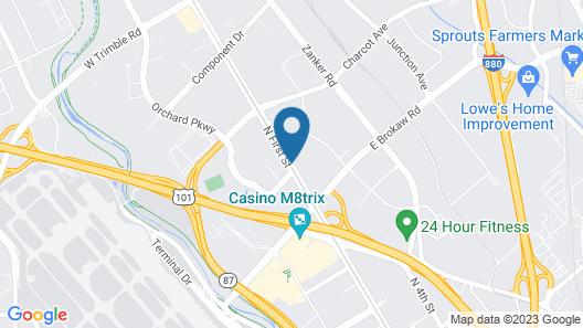 Hampton Inn & Suites San Jose Airport Map