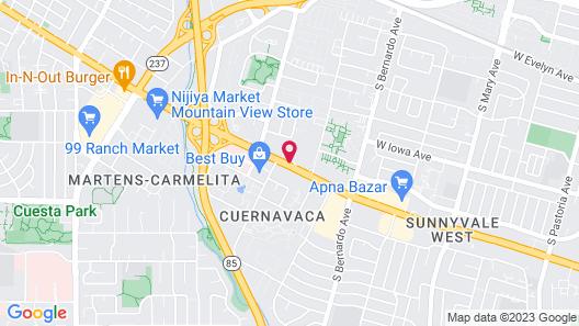 Avante, a JDV by Hyatt Hotel Map