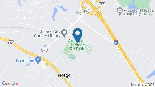American Heritage RV Park Map