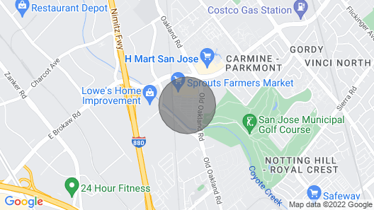 Lux Bedroom in North San Jose Map
