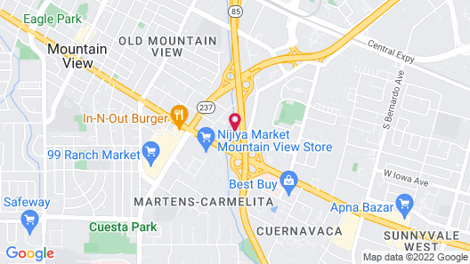 Extended Stay America Suites San Jose Mountain View Map