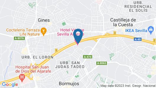 Apartamentos Vértice Sevilla Aljarafe Map