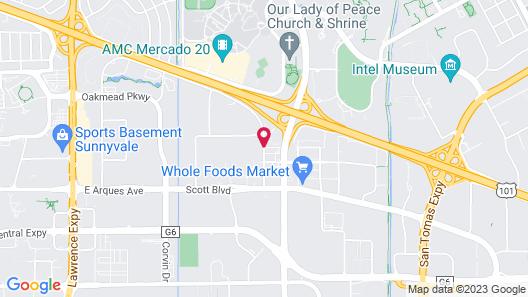 TownePlace Suites San Jose Santa Clara Map