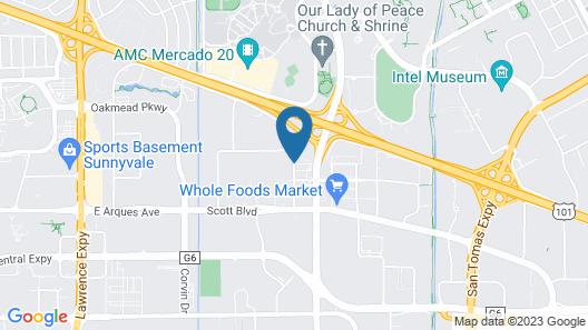 Embassy Suites Santa Clara - Silicon Valley/Great America Map