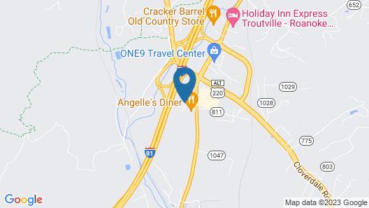 Motel 6 Troutville, VA Map