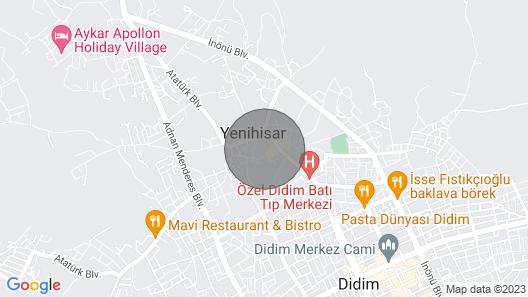 1+1 Apartment near Apollo Temple in Didim - 4 Map
