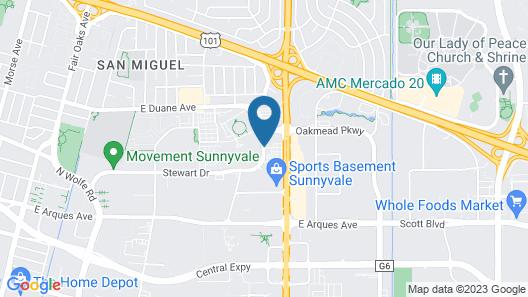 Residence Inn by Marriott Sunnyvale Silicon Valley II Map