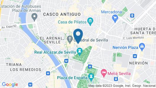 Hotel Casa 1800 Sevilla Map
