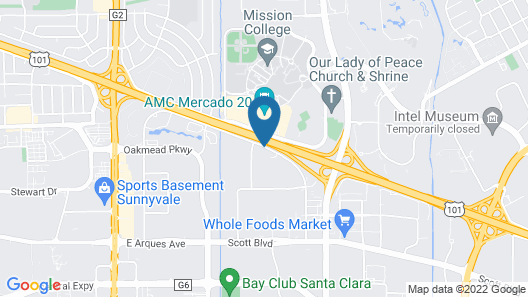 The Plaza Suites Silicon Valley Map