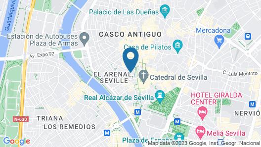 Petit Palace Marqués Santa Ana Map