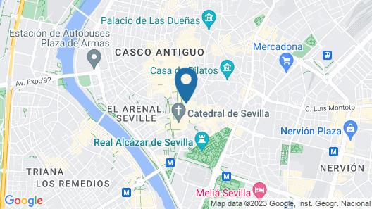 Hotel Convento La Gloria Map