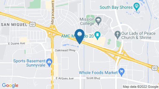 Residence Inn by Marriott Silicon Valley Sunnyvale I Map