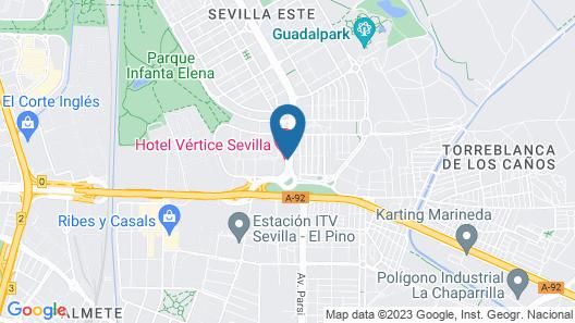 Hotel Vértice Sevilla Map