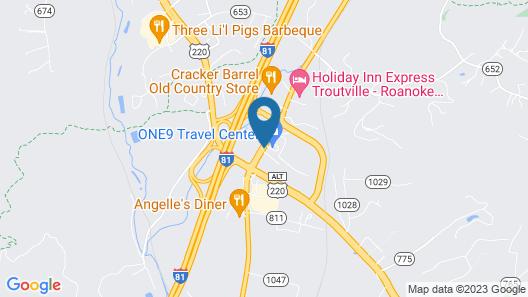 Travel Center of America-Roanoke Map