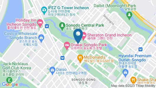 Oakwood Premier Incheon Map