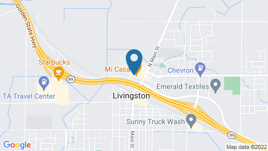 Town & Country Motel Map