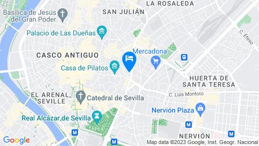 Catalonia Giralda Hotel Map