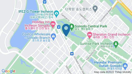 The Central Park Hotel Songdo Map