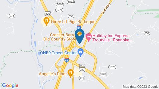 Quality Inn Troutville - Roanoke North Map