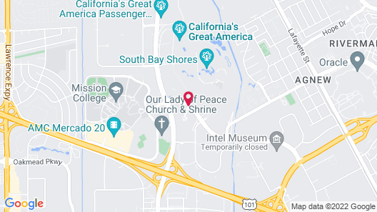 Santa Clara Marriott Map