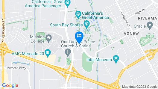Santa Clara Marriott Map